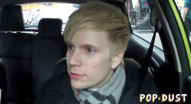 photo of Patrick Stump  - car